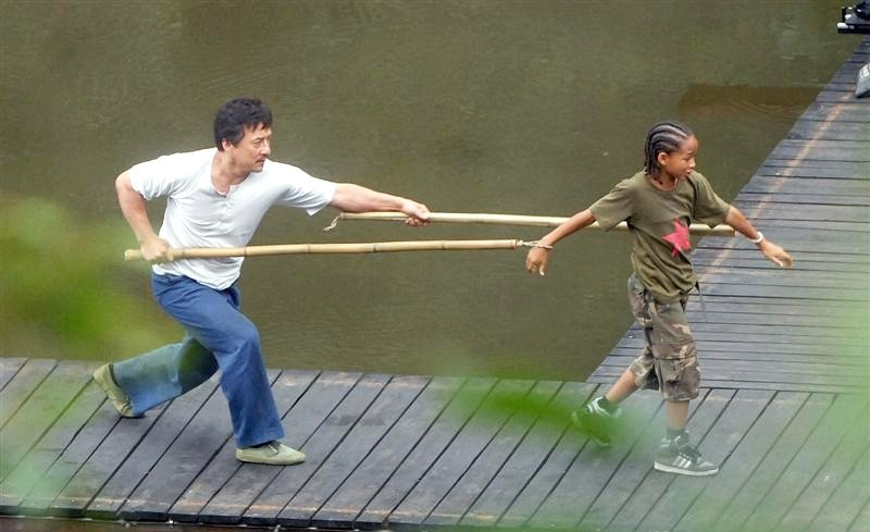 Set Pics: Jackie Chan and Jaden Smith in 'Karate Kid' Remake