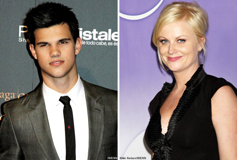Taylor Lautner and Amy Poehler for Golden Globes