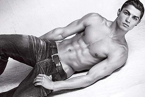 Cristiano Ronaldo Goes Shirtless in New Armani Ads