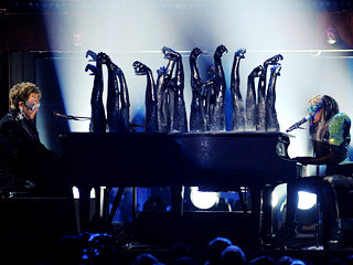 52nd Grammys: Lady GaGa's Theatrical Performance in Fame Factory
