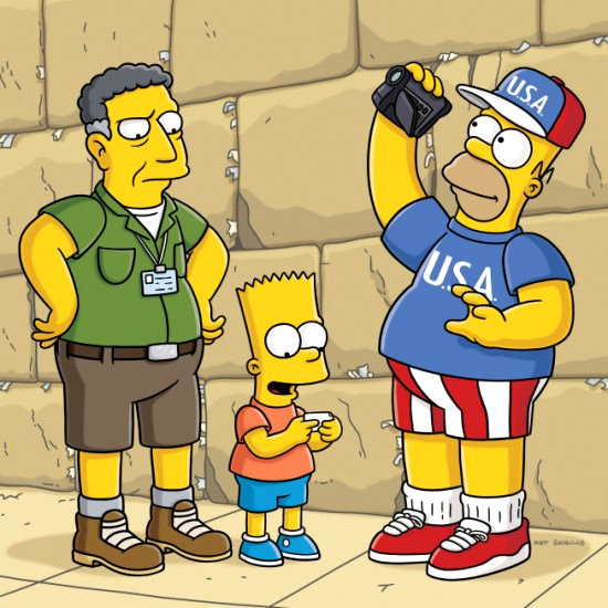 First Look of Sacha Baron Cohen on 'The Simpsons'