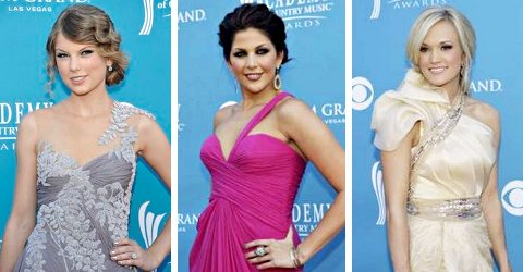 Taylor Swift, Lady Antebellum and More Hit 2010 ACM Awards Orange Carpet