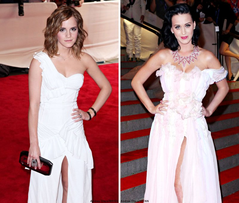 Emma Watson and Katy Perry Show Some Skin at MET Ball