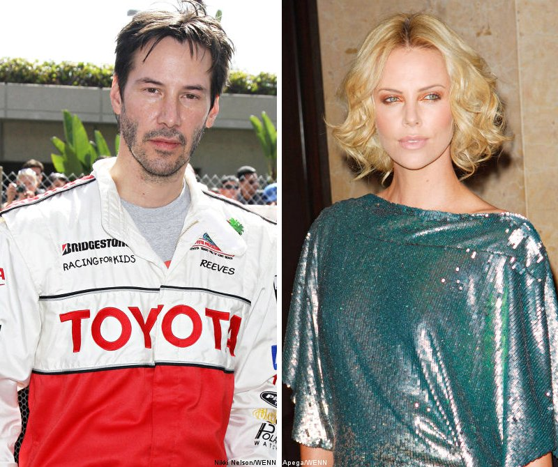 Keanu Reeves and Charlize Theron Caught Sharing Intimate Kiss
