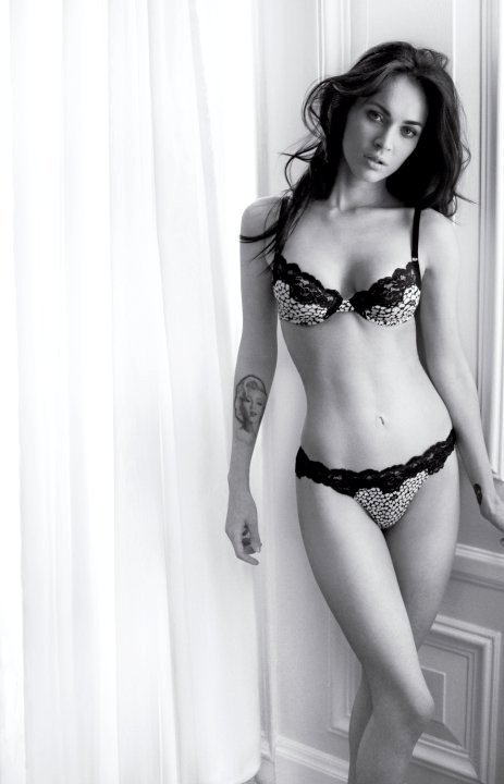 Megan Fox Flaunts Sexy Body in Lacy Lingerie for New Armani Ad