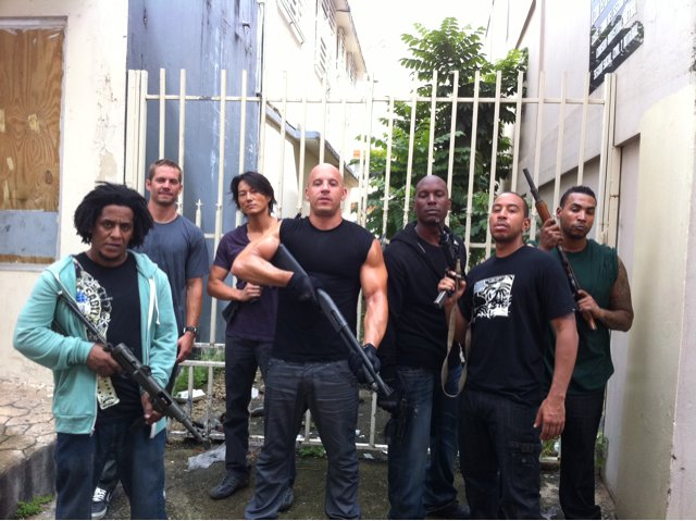 First Pictures and Video From the Set of 'Fast Five'