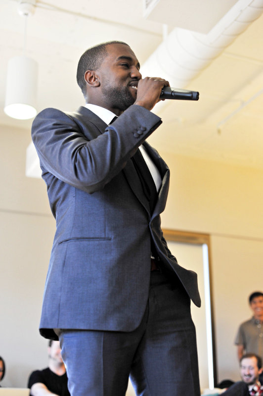 Video: Kanye West Invades Twitter Headquarters With Live Performance