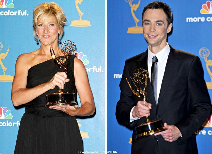 2010 Emmys: Edie Falco and Jim Parsons Win Comedy Lead