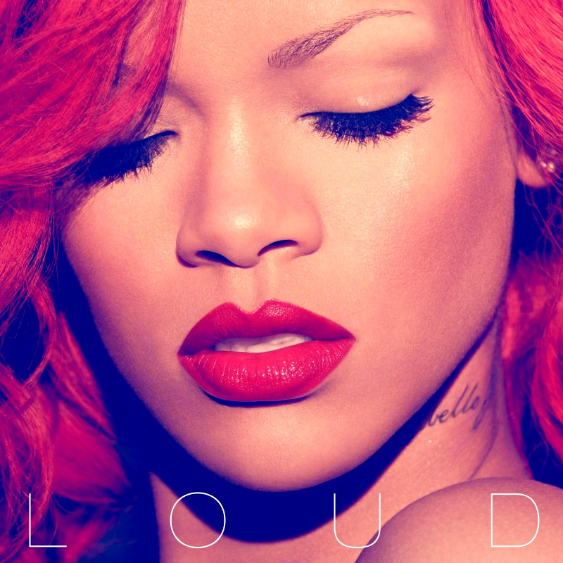 Vibrant Red Hot Rihanna Featured in Official Cover Art of 'Loud'