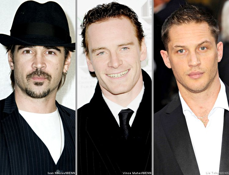 Colin Farrell, Michael Fassbender and Tom Hardy on 'Total Recall' Shortlist