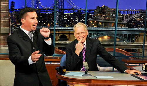Charming Edison Pena Broke Into Elvis' Song During 'Letterman'