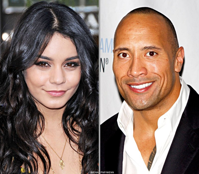 Vanessa Hudgens, The Rock Pictured Filming 'Journey 2: The Mysterious Island'