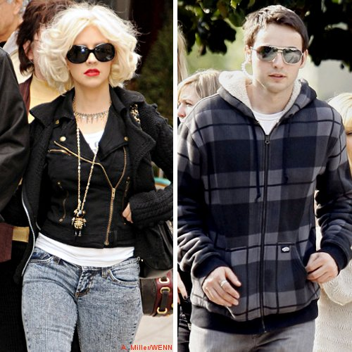 Christina Aguilera and Matthew Rutler Walking Out of Party Hand-in-Hand