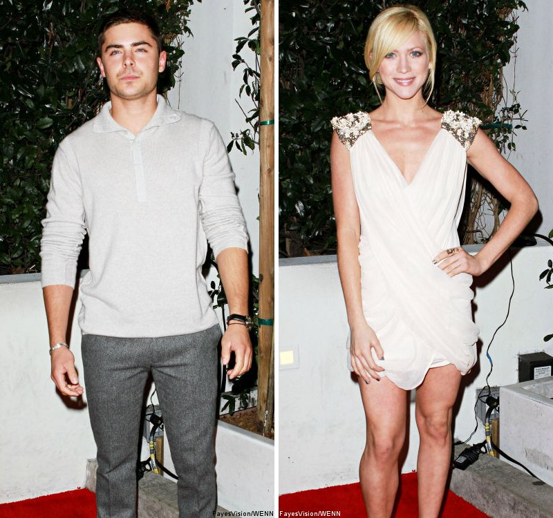 Zac Efron and Brittany Snow Hit Audi Golden Globe Party