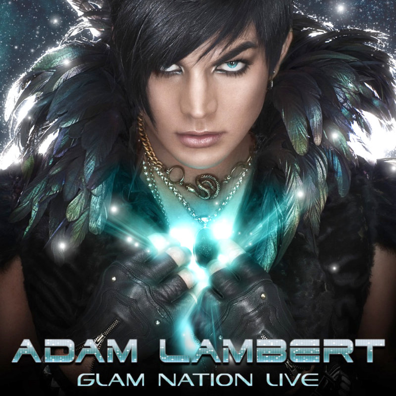 Cover Art and Tracklisting of Adam Lambert's 'Glam Nation Live' CD/DVD