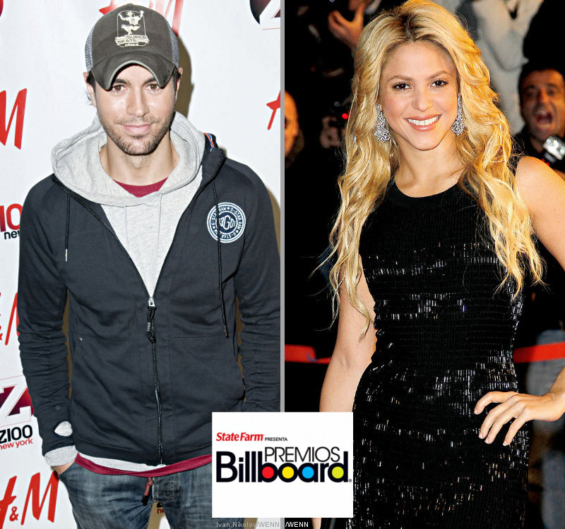 Enrique Iglesias and Shakira Lead Billboard Latin Music Awards Noms
