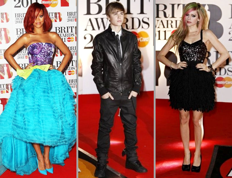 Rihanna, Justin Bieber, Avril Lavigne and More at BRIT Awards Red Carpet