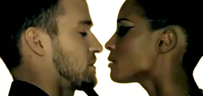 Ciara and Justin Timberlake playing lovers