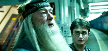 Harry travels along with Hogwarts headmaster, Dumbledore in 'Half-Blood Prince'