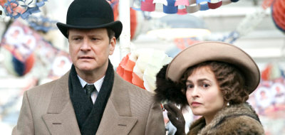 Colin Firth stars as King George VI, Helena Bonham Carter stars as Queen Elizabeth in 'The King's Speech'