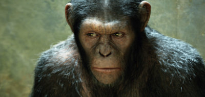 Andy Serkis is smart chimp Caesar in 'Rise of the Planet of the Apes'