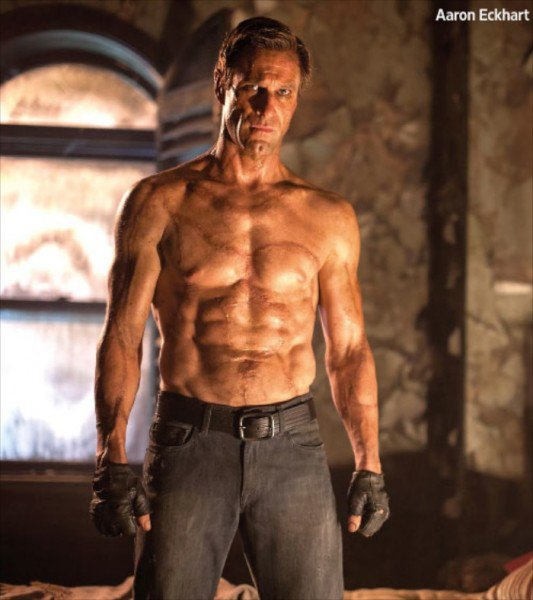 Aaron Eckhart Bares His Muscular Body in First 'I, Frankenstein' Image