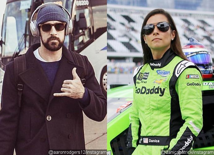 Aaron Rodgers and Danica Patrick Kiss at Daytona 500 Before She Crashes During Her Final NASCAR Race