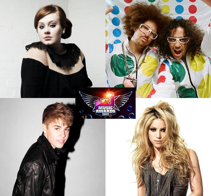 Adele, LMFAO, Justin Bieber, Shakira and Rihanna Win 2012 NRJ Awards