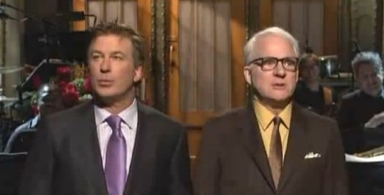 'SNL' Host Alec Baldwin Gets Surprise Visit From 'Rival' Steve Martin