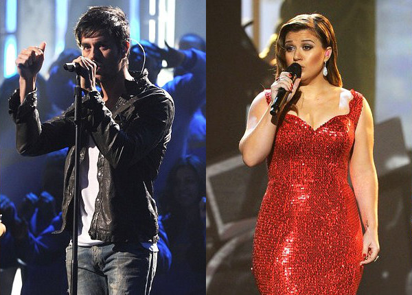 AMAs 2011: Live Performances by Enrique Iglesias and Kelly Clarkson