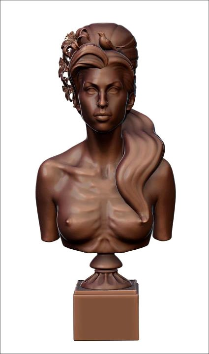 Amy Winehouse Gets Immortalized in Naked Bust Sculpture