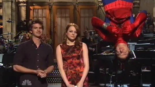 Andrew Garfield and Andy Samberg Join Emma Stone in 'SNL' Monologue