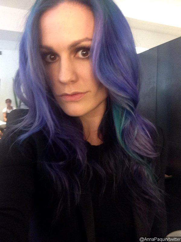 Anna Paquin Dyes Her Hair Purple and Blue