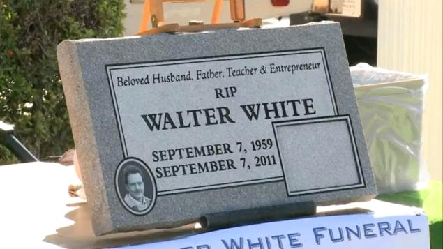 'Breaking Bad': Walter White Tombstone to Be Relocated
