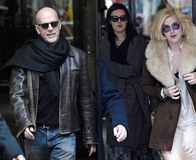 Bruce Willis Goes Black Friday Shopping With Daughters in Paris