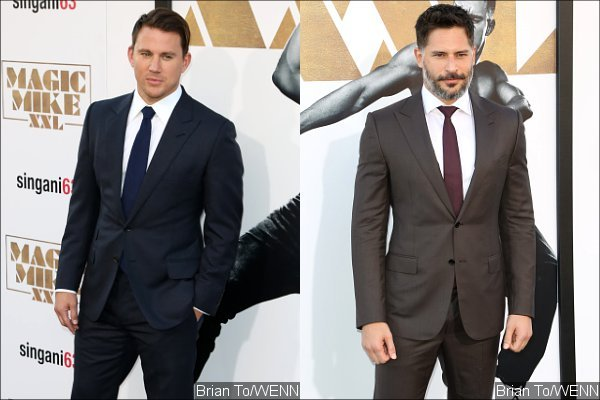Channing Tatum and Joe Manganiello Neatly Dressed at 'Magic Mike XXL' Hollywood Premiere