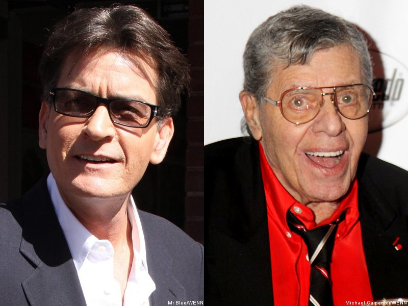 Charlie Sheen and Jerry Lewis Allegedly Courted for 'American Idol'