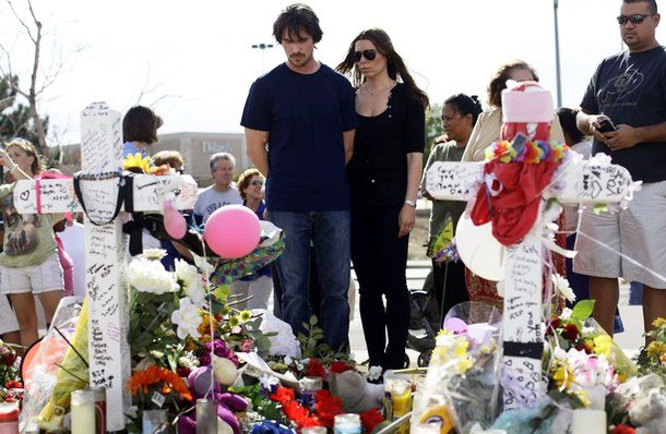 Christian Bale and His Wife Visit Mass Shooting Victims in Aurora, Colorado