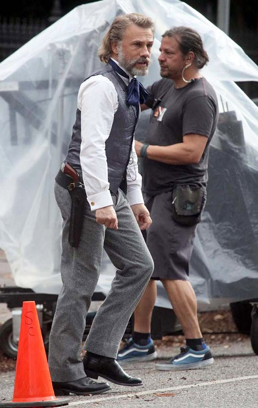 First Look at Christoph Waltz as Dr. King Schultz From 'Django Unchained' Set