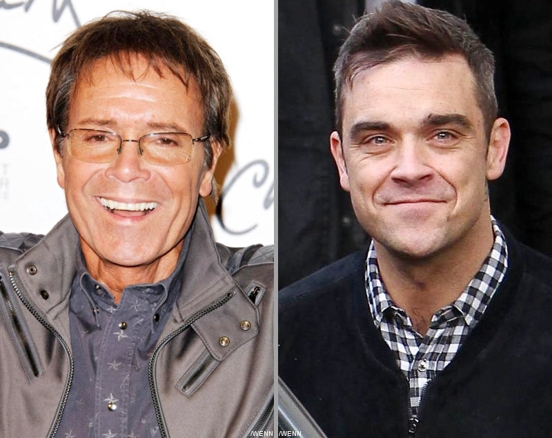 Cliff Richard and Robbie Williams Back Blue for Eurovision Glory