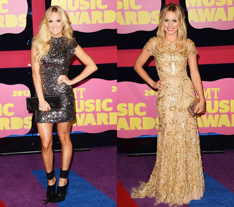 CMT Music Awards 2012: Carrie Underwood and Kristen Bell Glam Up Red Carpet