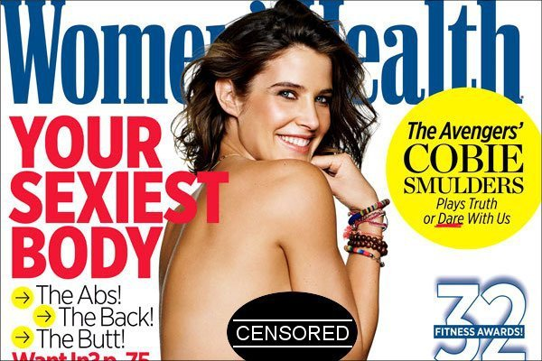 Cobie Smulders Sparkles in Topless Photo for Women's Health Cover