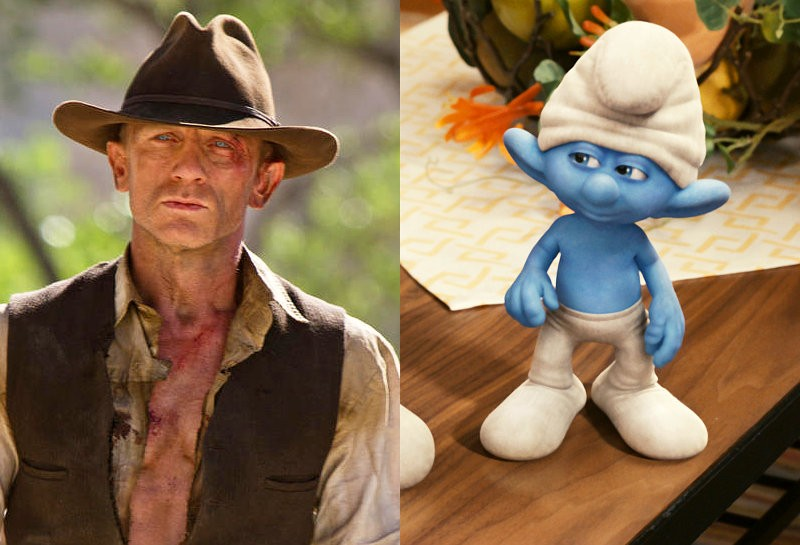 'Cowboys and Aliens' and 'The Smurfs' Tied on Top of Box Office