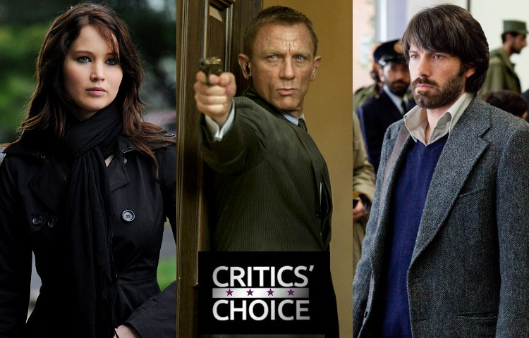 Critics' Choice Movie Awards 2013 Winners: 'Silver Linings Playbook', 'Skyfall' and 'Argo'