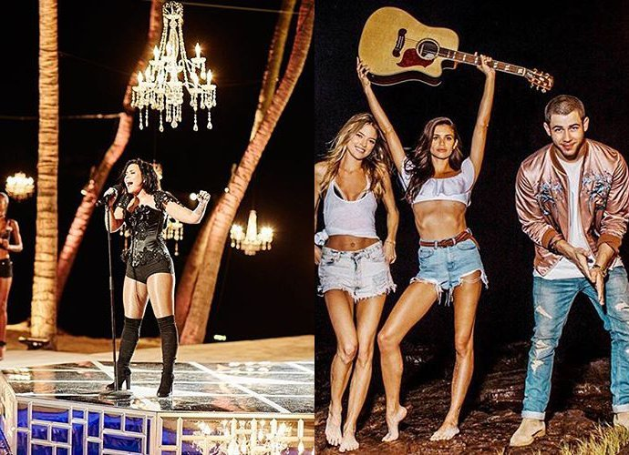 6a944707bd Watch Demi Lovato and Nick Jonas  Performances at Victoria s Secret Swim  Special