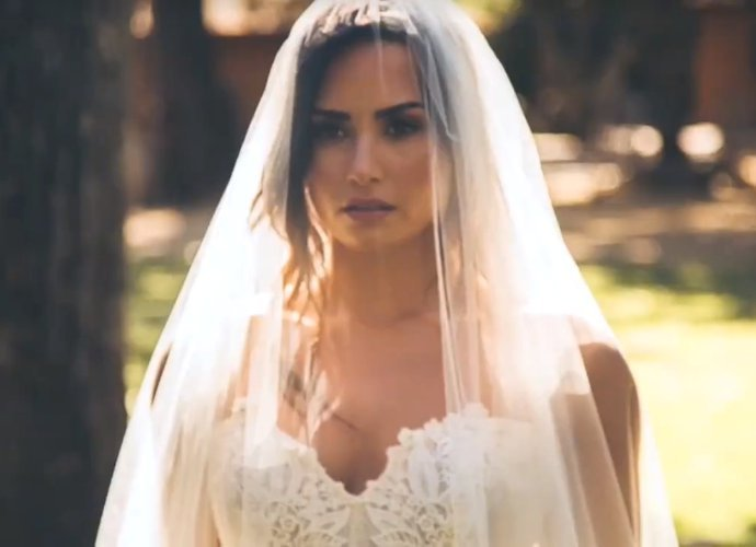 demi lovato is a bride in teasers for tell me you love me