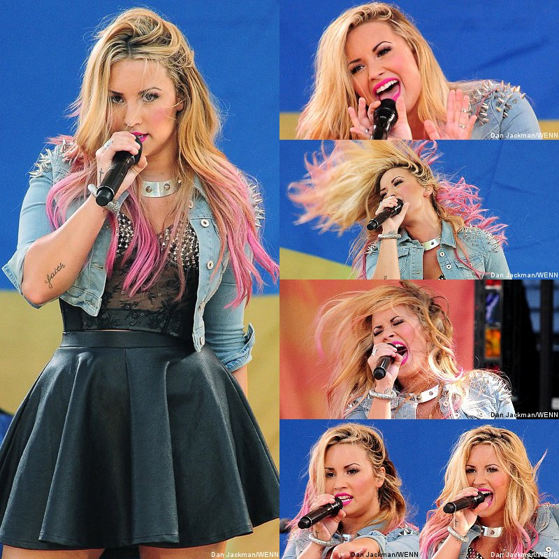 Demi Lovato Performs in 'GMA' Summer Concert Series