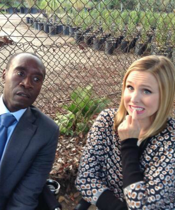 Don Cheadle and Kristen Bell Joke Over Gang Shooting Incident