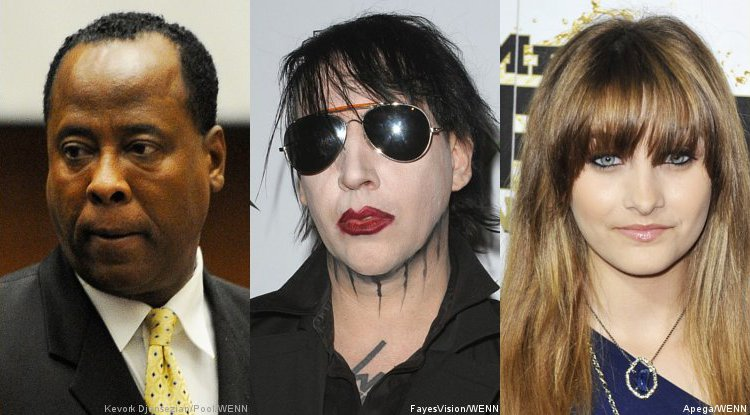 Dr. Conrad Murray and Marilyn Manson Send Well-Wishes to Paris Jackson