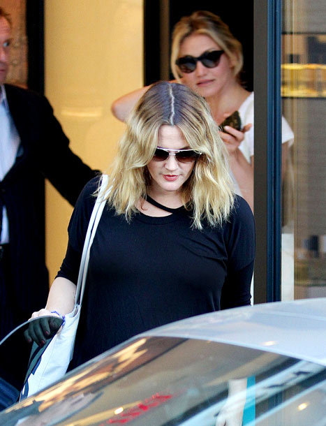 Drew Barrymore Goes to Final Wedding Dress Fitting With Cameron Diaz